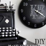 DIY: MAKE CHALKBOARD CLOCK FROM POT LID